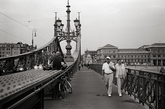 Szchenyi Chain Bridge, Budapest, Hungary; Leica MP 0.58, 35mm Summicron, Kodak Tri-X  Doug Kim