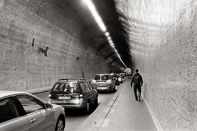 Tunnel, District V, Budapest, Hungary; Leica MP 0.58, 35mm Summicron, Kodak Tri-X  Doug Kim