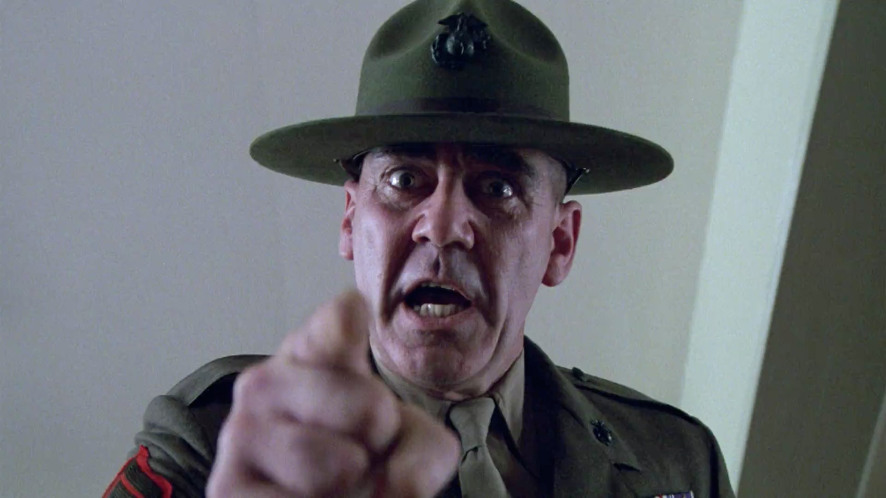 R. Lee Ermey in Stanley Kubrick's Full Metal Jacket, 1987