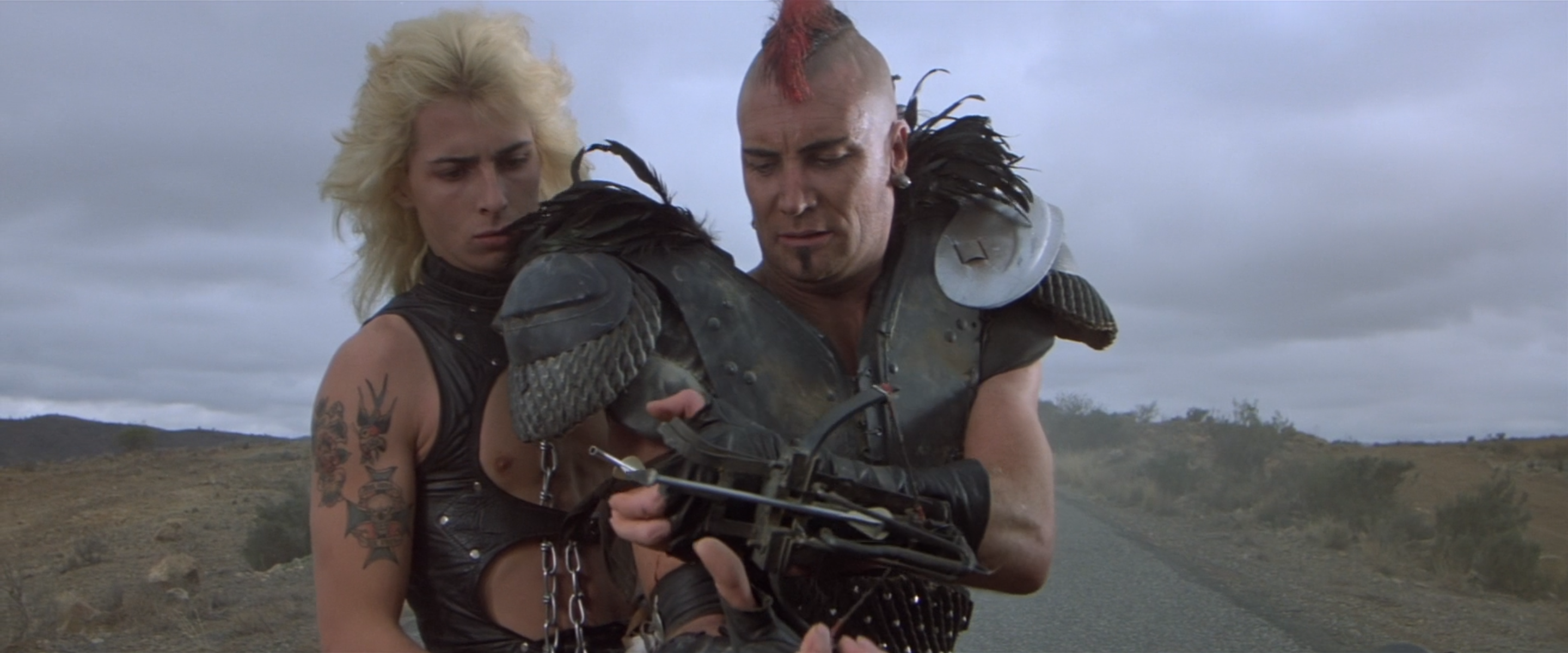 Vernon Wells in George Miller's Road Warrior,