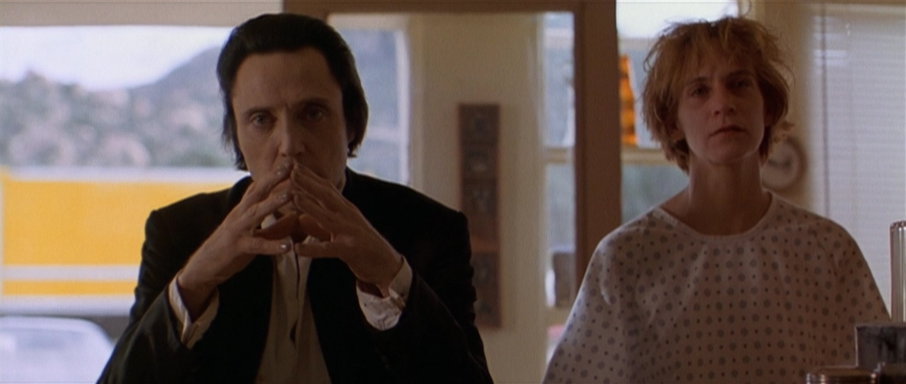 Christopher Walken as the archangel Gabriel and Amanda Plummer in The Prophecy, 1995