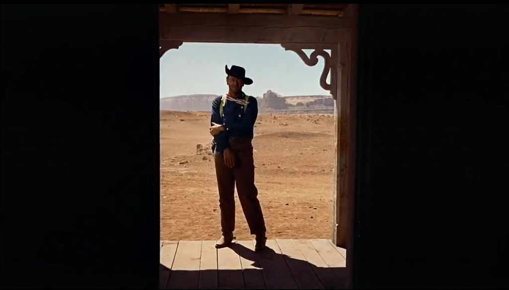 John Wayne in John Ford's The Searchers, 1956