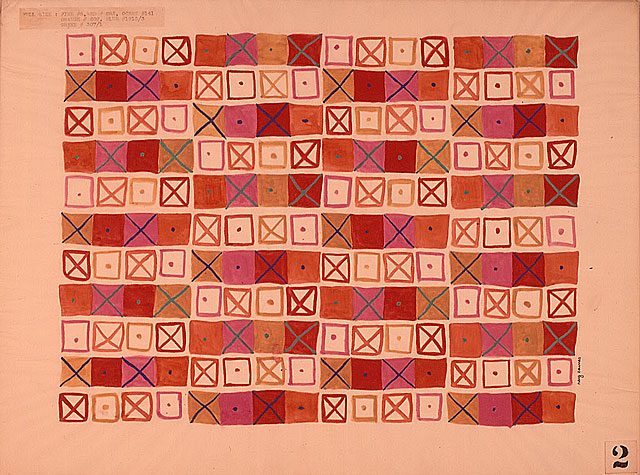 Crosspatch Fabric Design, 1945 © Ray Eames