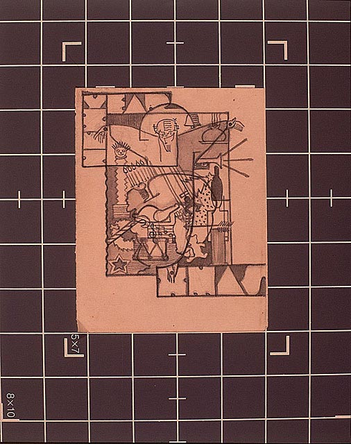 Christmas and New Year's Card, 1933-34, pencil on paper © Ray Eames