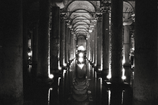 Basilica Cistern, Istanbul, Turkey; Leica MP 0.58, 35mm Summicron, Kodak Tri-X © Doug Kim