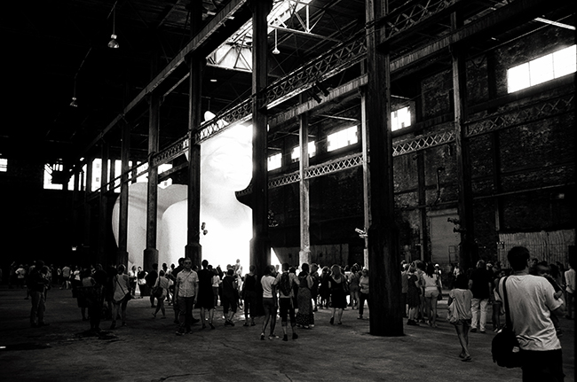 Kara Walker, Domino Sugar Factory, Williamsburg, Brooklyn; Leica MP 0.58, 35mm Summicron, Kodak Tri-X © Doug Kim