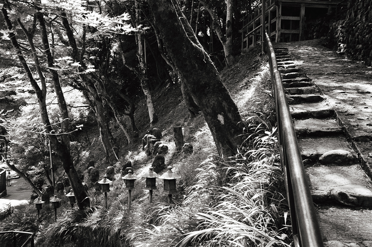 Otagi Nenbutsu-ji temple, Kyoto, Japan; Leica MP 0.58, 35mm Summicron, Kodak Tri-X © Doug Kim