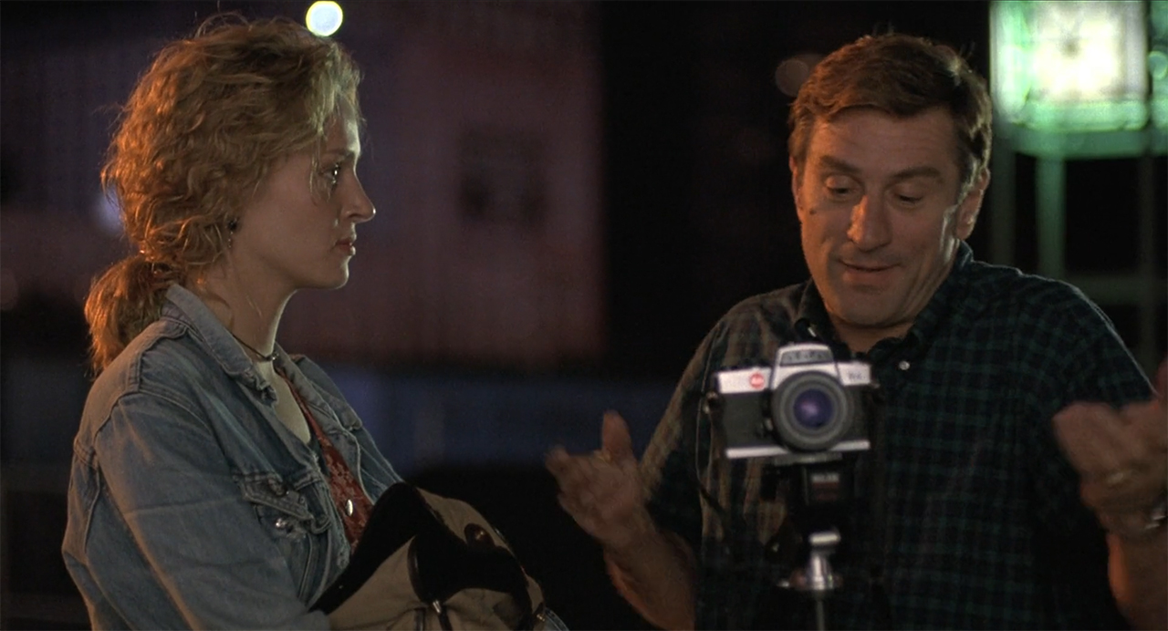 Robert de Niro  and Uma Thurman using a Chrome R Leica in Mad Dog & Glory (1993)