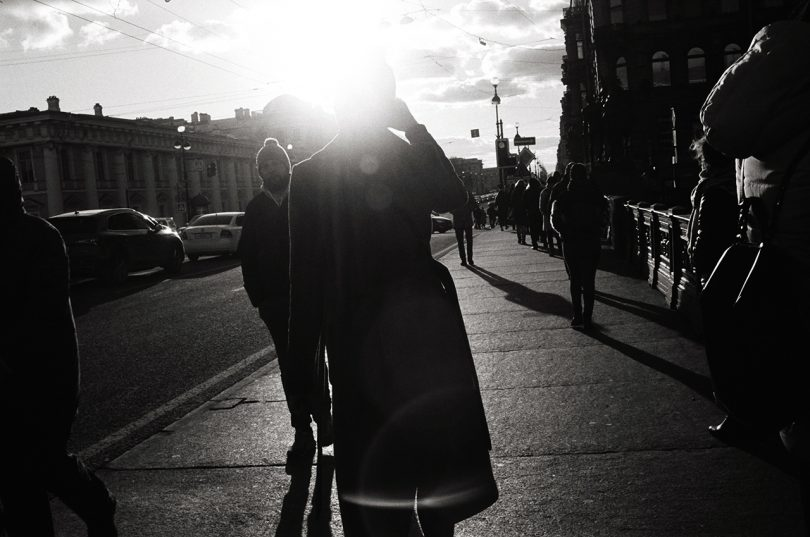 Streetphotography, Leica, Film, Sun, black and white photography