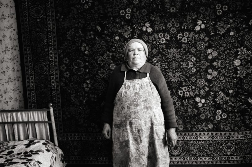 Ukraine; Leica, Street photography, analog photography, portrait, village, widow, Doug Kim